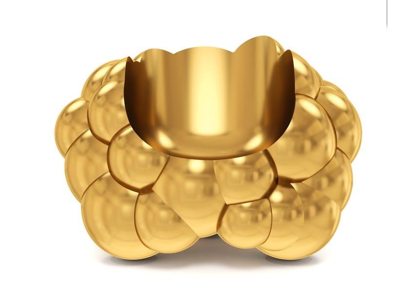 Brass armchair WOLK by Scarlet Splendour