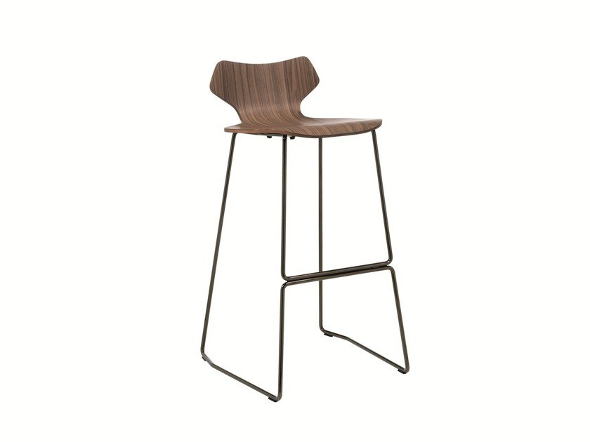 Sled base stool with footrest WOMAN | Stool by Albaplus