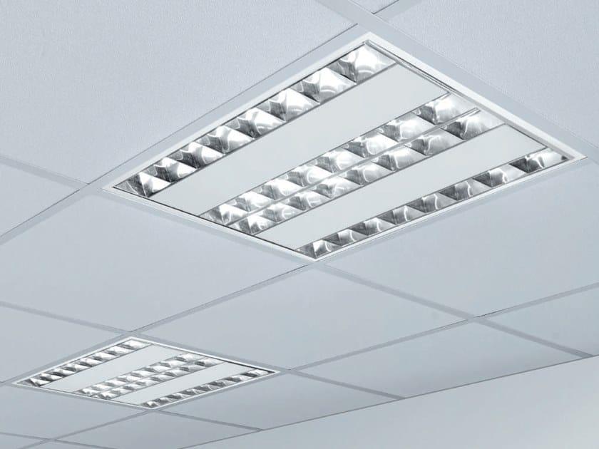 Led polystyrene lamp for false ceiling dracma by rossini illuminazione
