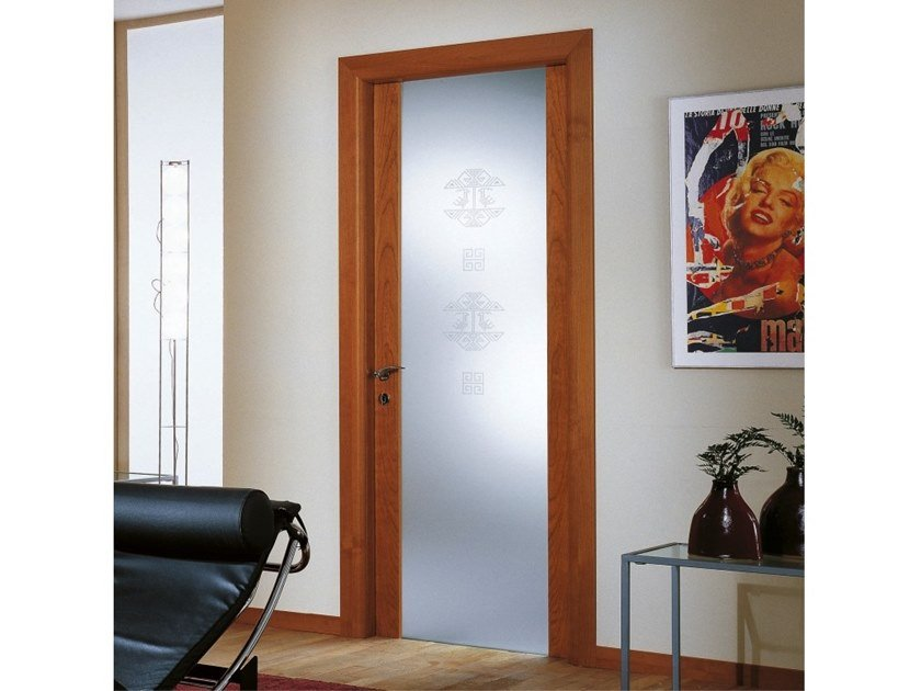 Hinged wood and glass door Wood and glass door by Ital-Plastick