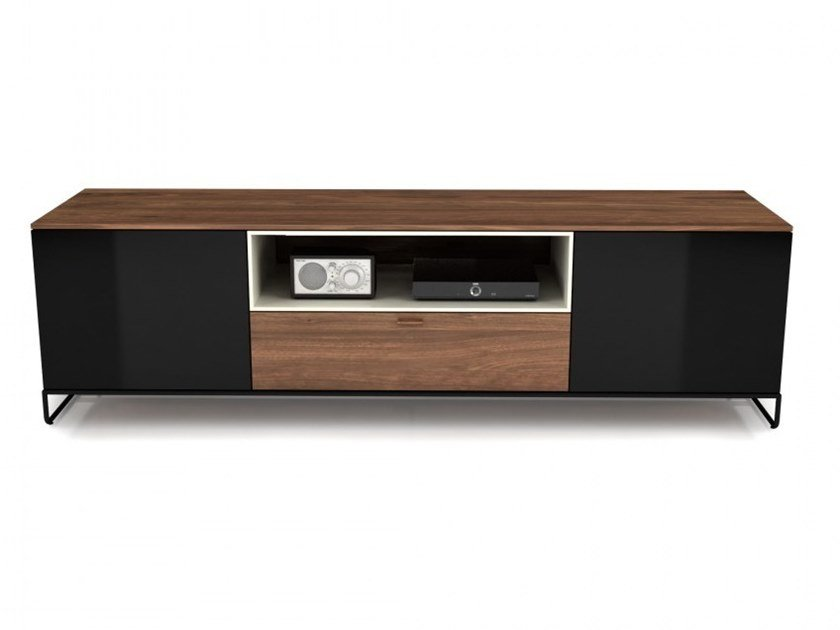 Linea Tv Mobel Aus Holz Und Glas Kollektion Linea By Huppe Design Joel Dupras