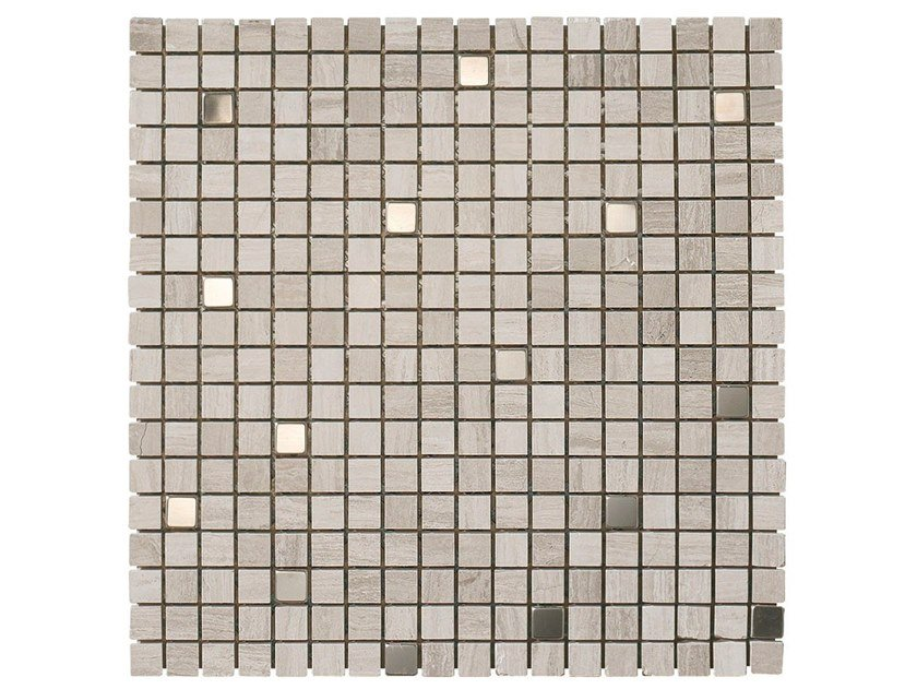 Marble mosaic WOOD STONE METAL by BOXER
