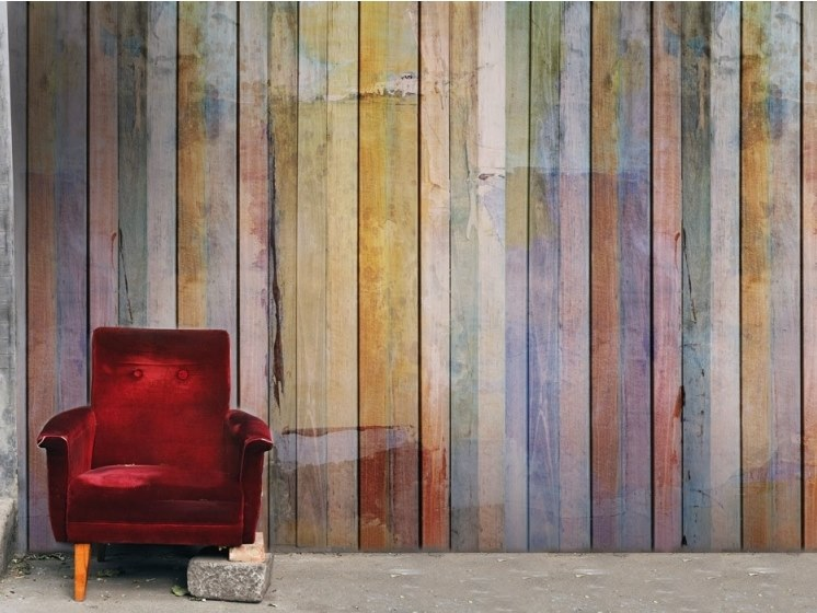 Wood effect panoramic JET TEX wallpaper WOOD EFFECTS by ACTE-DECO