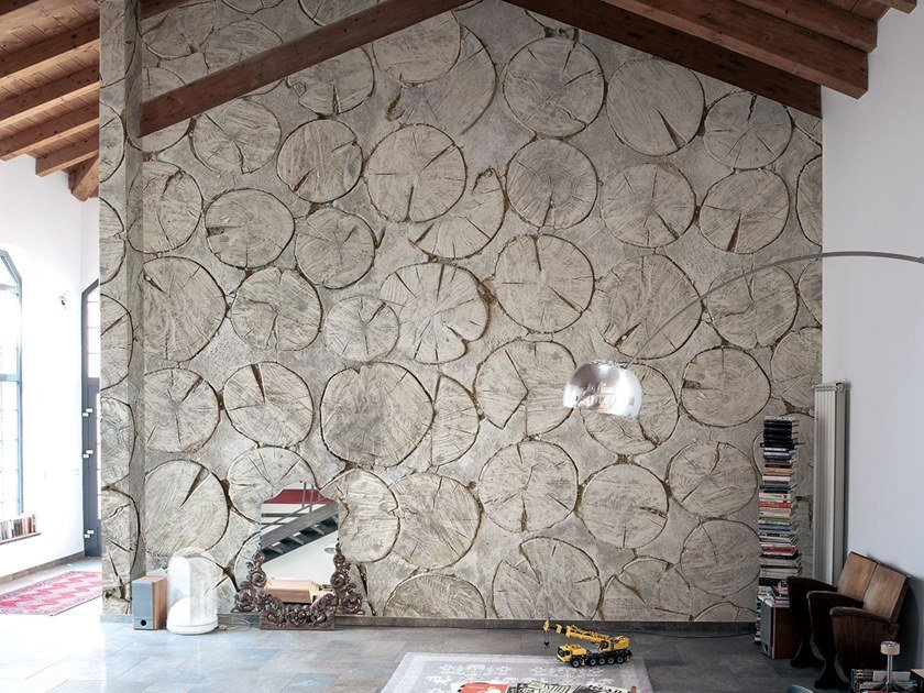 Fire retardant Digital printing wallpaper WOOD by NANNI GIANCARLO & C.