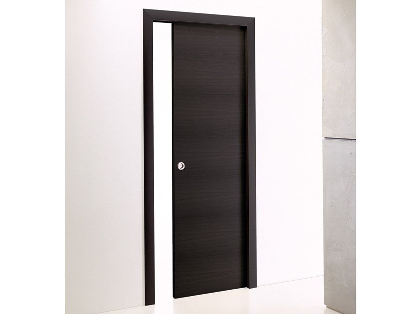 Wooden pocket sliding door WOOD | Pocket sliding door by Longhi