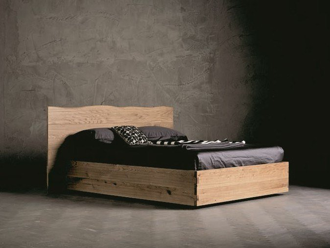 Solid wood double bed WOOD RING 5 by AltaCorte
