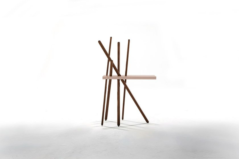 Wooden console table / coat rack WOOD by Tonin Casa
