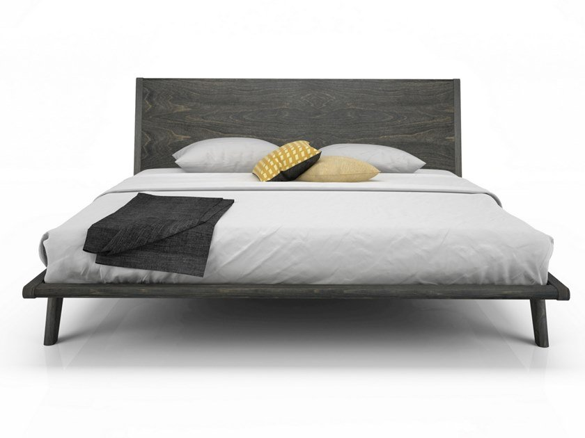 Birch bed double bed MILES | Wooden bed by Huppé
