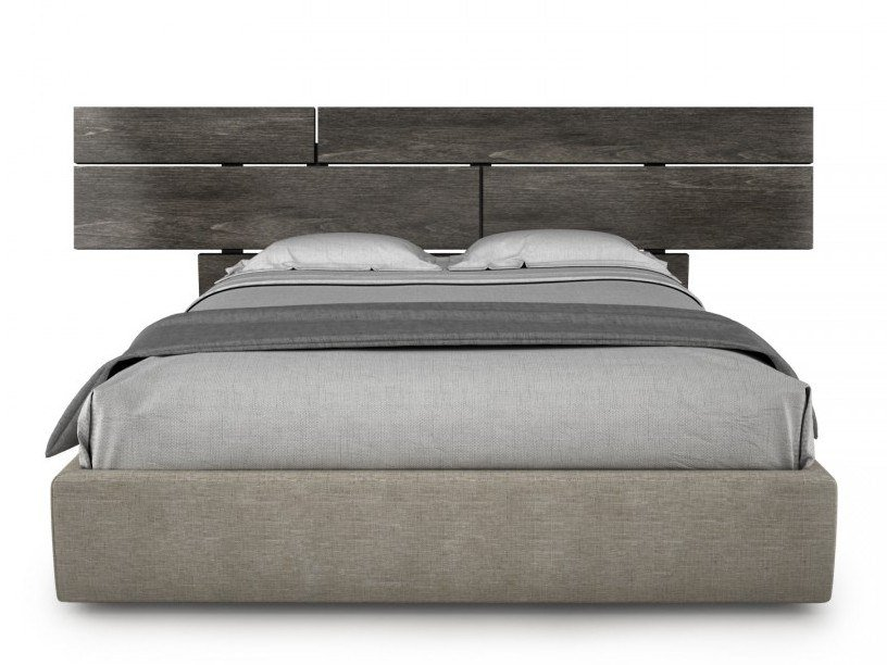 Wooden bed double bed PLANK | Wooden bed by Huppé