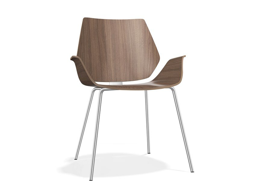 Wooden chair with armrests CENTURO III | Wooden chair by Casala