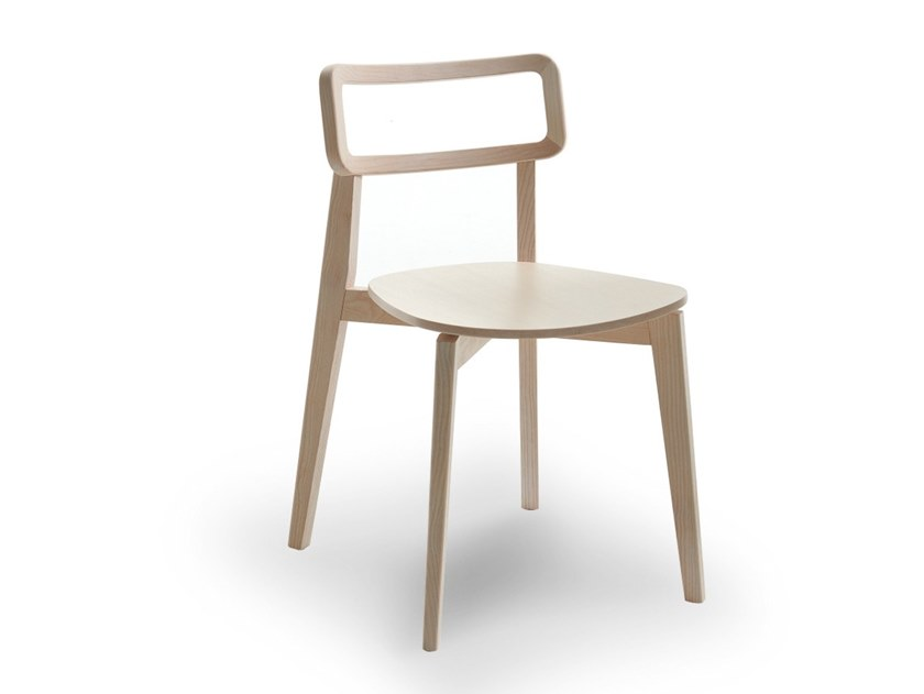 Stackable wooden chair ARIANNA | Wooden chair by Passoni