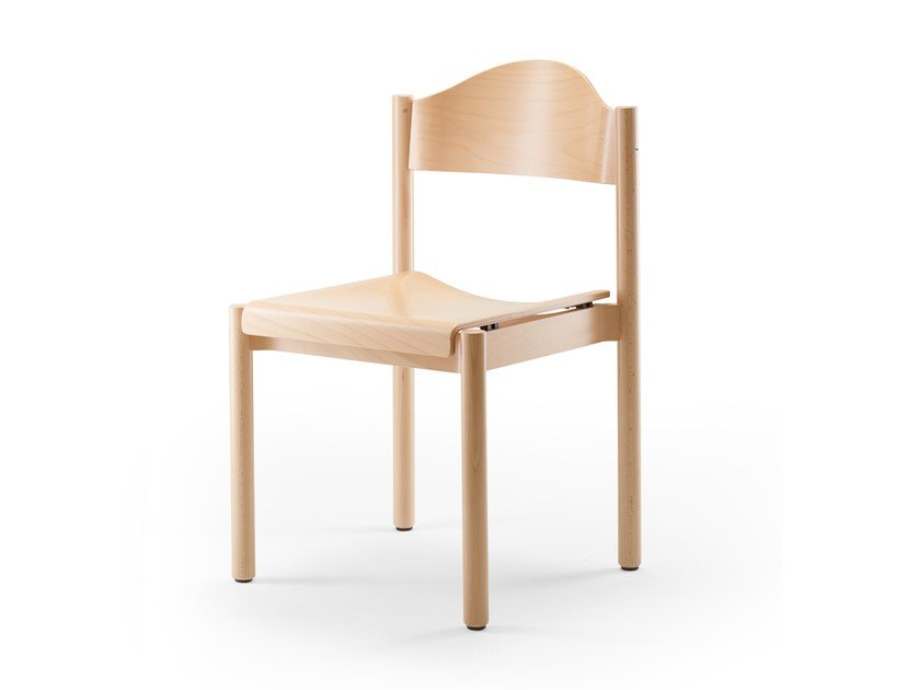 Stackable wooden chair ELENA | Wooden chair by rosconi