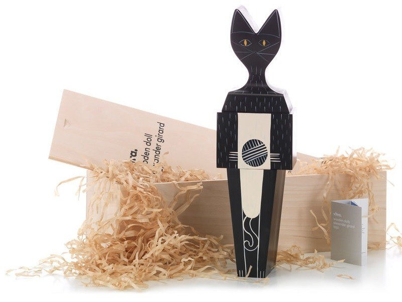 Wooden sculpture WOODEN DOLL CAT LARGE by Vitra
