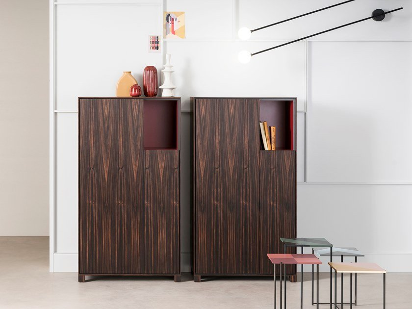 Highboard with doors ATENEO | Wooden highboard by Capo d'Opera