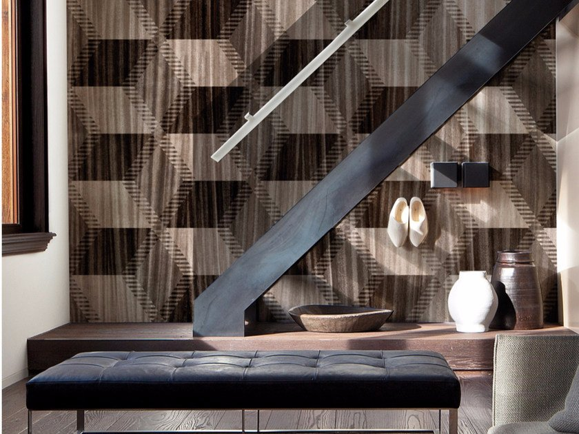 Motif wood effect panoramic wallpaper WOODEN RHAPSODY by Inkiostro Bianco