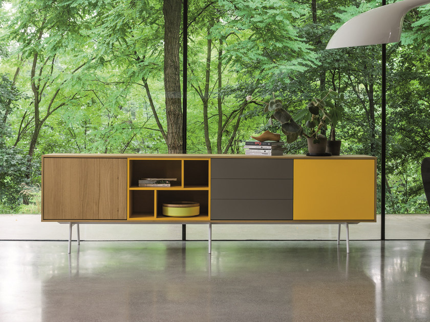 Modular wooden sideboard CODE | Wooden sideboard by Dall'Agnese