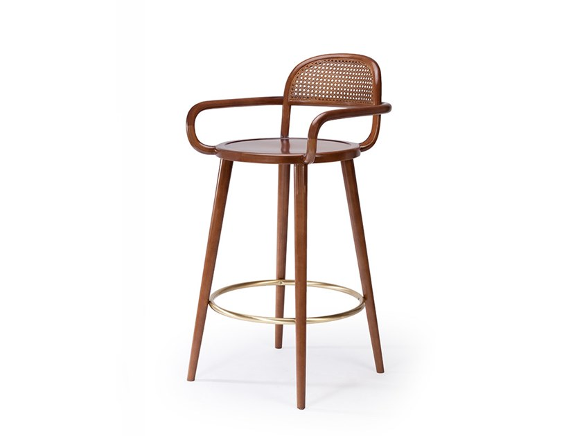 High wooden stool LUC | Wooden stool by Mambo Unlimited Ideas