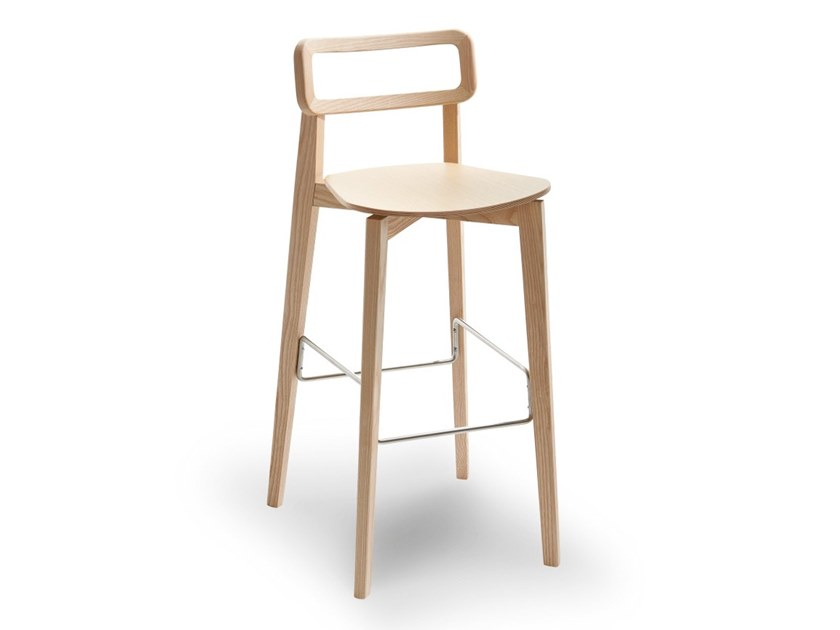 High wooden stool ARIANNA | Wooden stool by Passoni