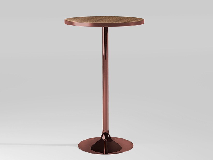 Round metal high table CHICAGO | Metal table by Emotional Projects