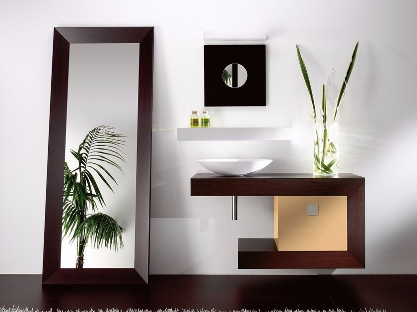 Single wooden vanity unit with drawers COUNTER | Wooden vanity unit by CARMENTA