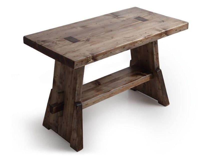 Floor-standing single wooden vanity unit CAVALLETTO by Horganica