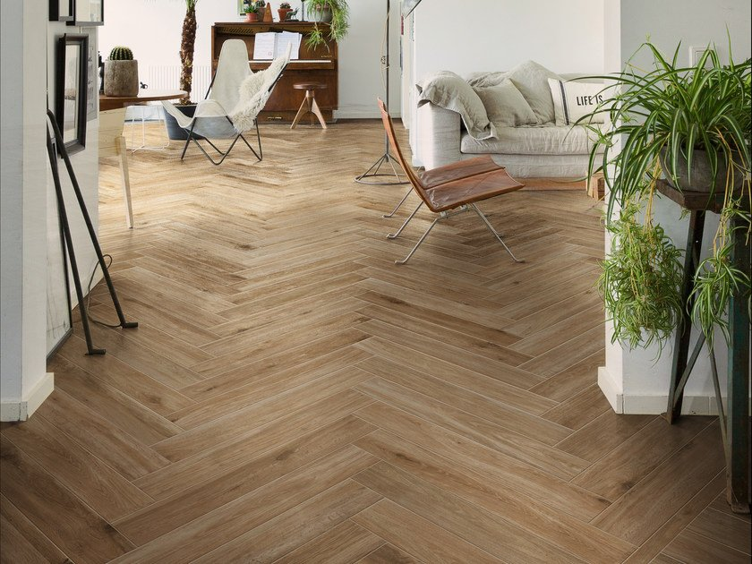 Porcelain stoneware flooring with wood effect WOODGLAM by Ragno