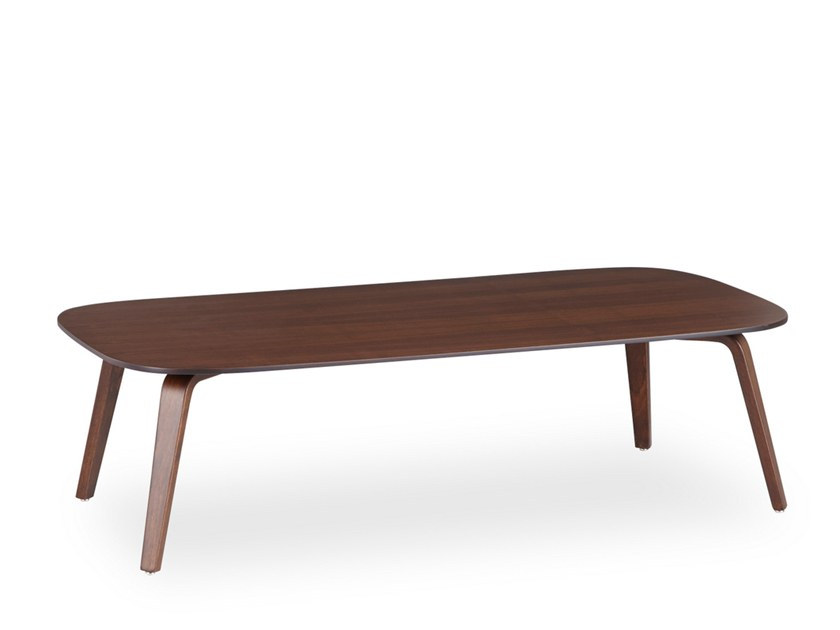 Low rectangular coffee table WOODPLATE | Low coffee table by B&T Design