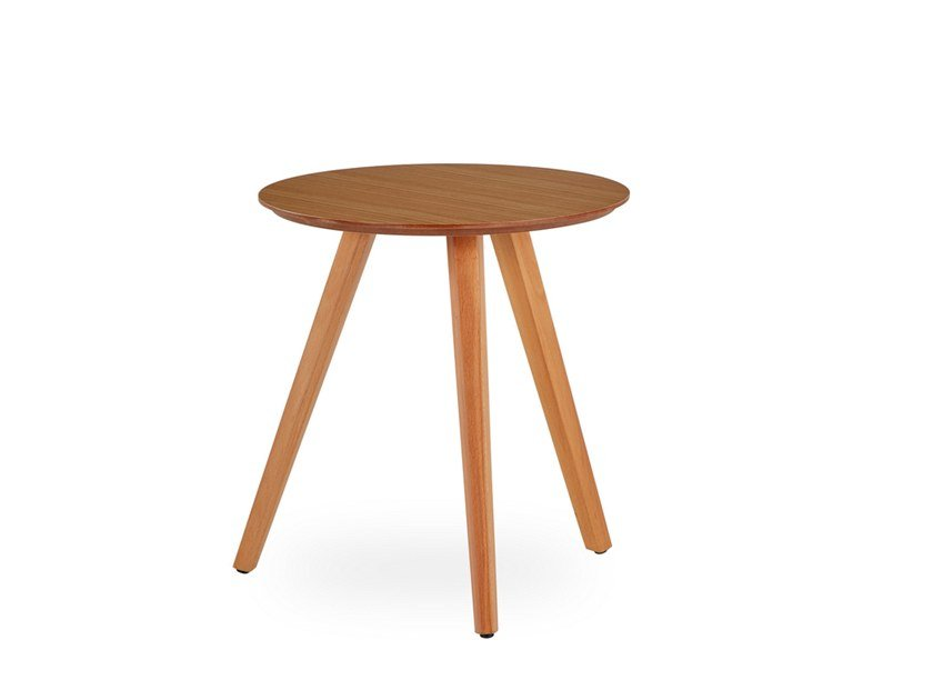 Round side table WOODPLATE | Side table by B&T Design
