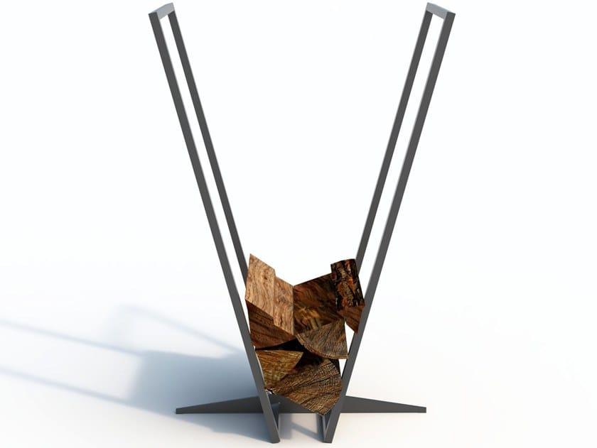 Powder coated steel Log holder LOG RACK by Arpe studio