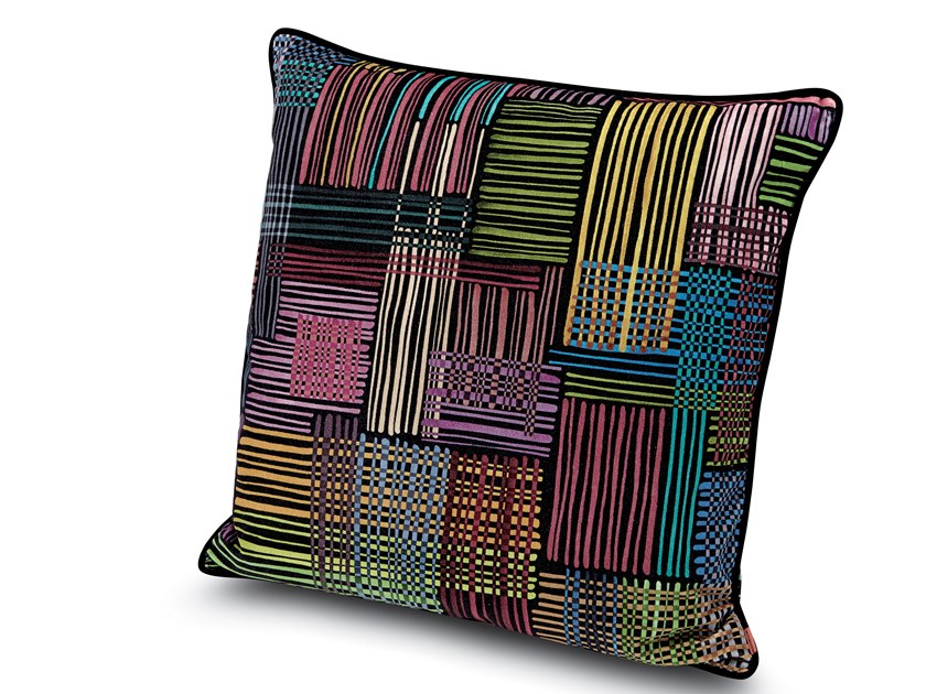 Cushion in printed cotton velvet WOODSTOCK by MissoniHome