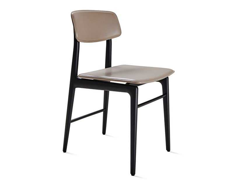 Sedia in pelle WOODY | Sedia in pelle by Molteni&C