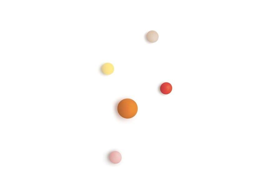 Appendiabiti Con Pomelli.Appendiabiti Pomello Woody By Nidi