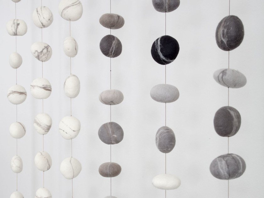 Wool felt hanging decoration PEBBLE | Wool felt hanging decoration by Ronel Jordaan™