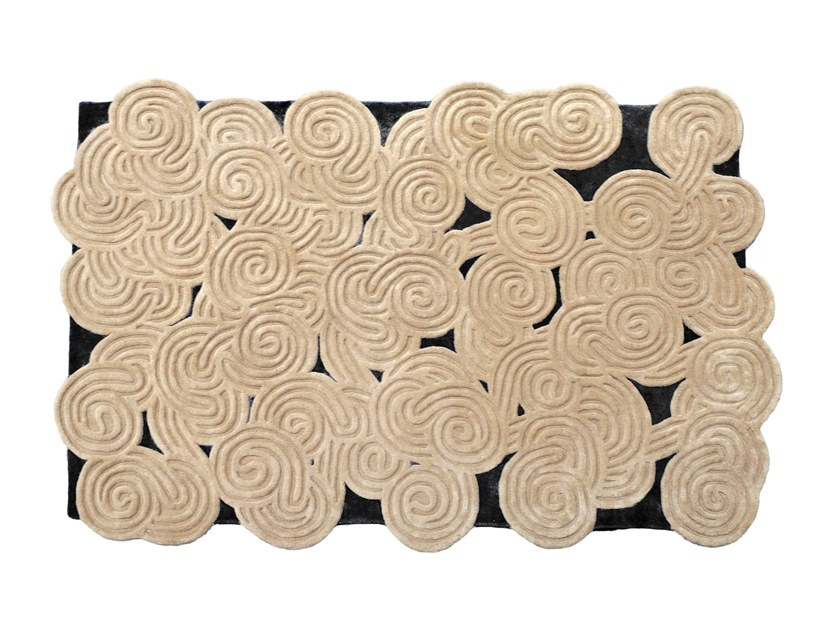 Rectangular wool rug KARESANSUI | Wool rug by Scarlet Splendour