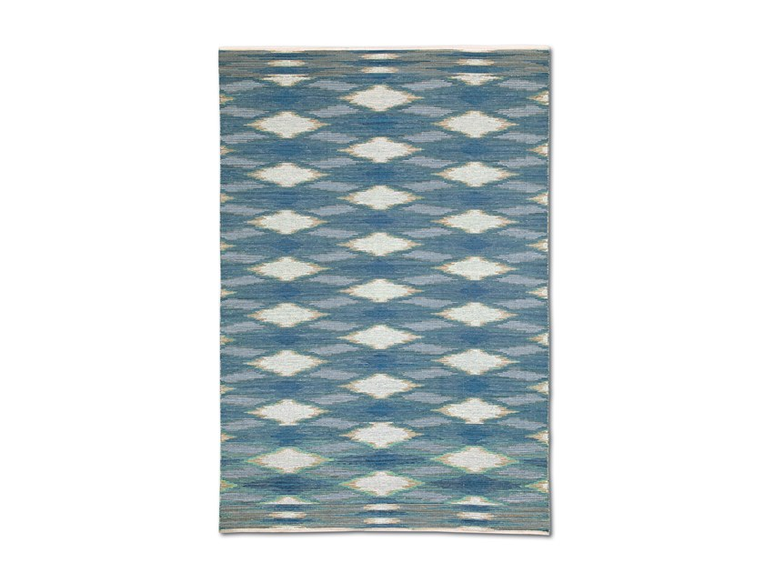 Handwoven wool rug with macro interwoven flames WOOLACOMBE by MissoniHome
