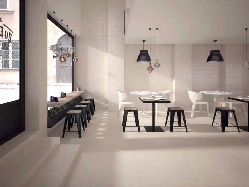 Full-body porcelain stoneware flooring with concrete effect WORK | Flooring by Marca Corona