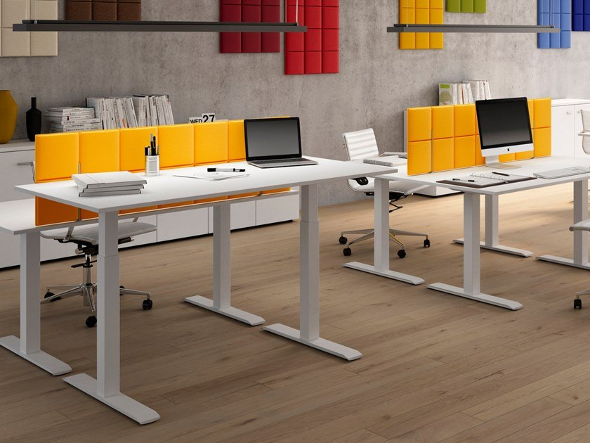 Sound absorbing fabric workstation screen desktop partition TETRIS | Workstation screen desktop partition by CUF Milano
