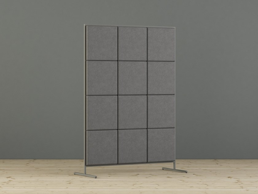 Sound absorbing free standing workstation screen SABINE | Workstation screen by Glimakra of Sweden