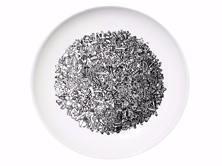 Ceramic dinner plate WORLD by Kiasmo