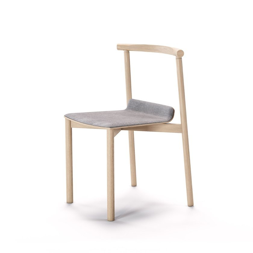 Open back ash chair with integrated cushion WOX | Chair with integrated cushion by Aliticon