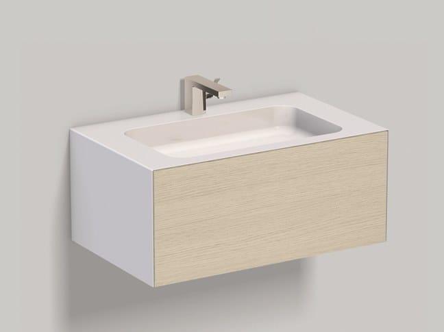 Mobile lavabo sospeso in laminato WP.Folio1 brushed oak by Alape