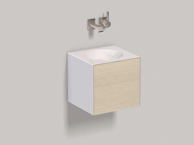 Mobile lavabo sospeso in laminato WP.Folio12 brushed oak by Alape