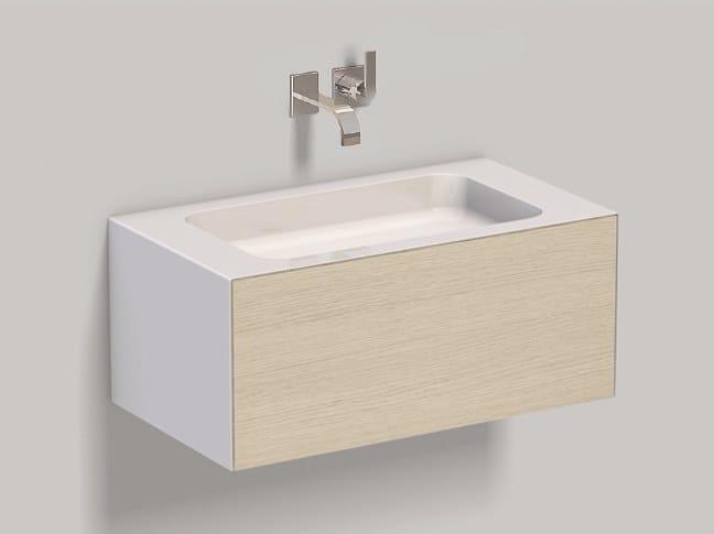 Mobile lavabo sospeso in laminato WP.Folio2 brushed oak by Alape