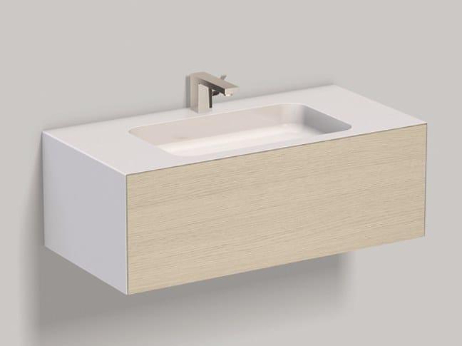 Mobile lavabo sospeso in laminato con cassetti WP.Folio3 brushed oak by Alape
