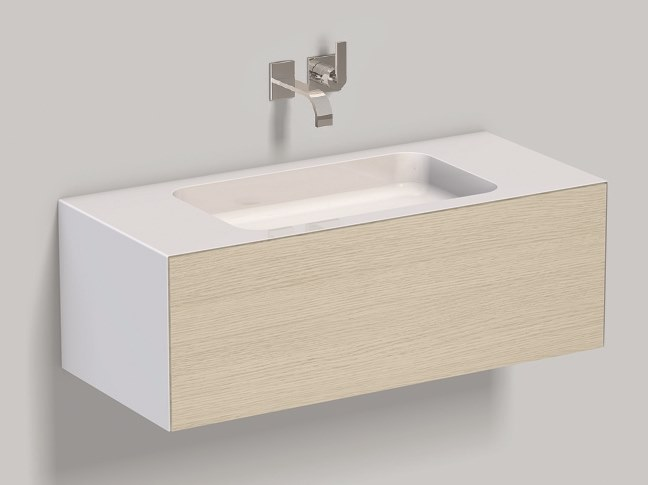 Mobile lavabo sospeso in laminato WP.Folio4 brushed oak by Alape