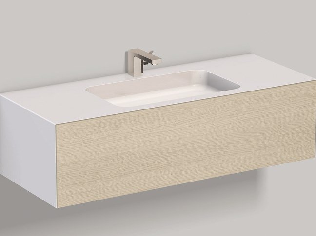 Mobile lavabo sospeso in laminato WP.Folio5 brushed oak by Alape