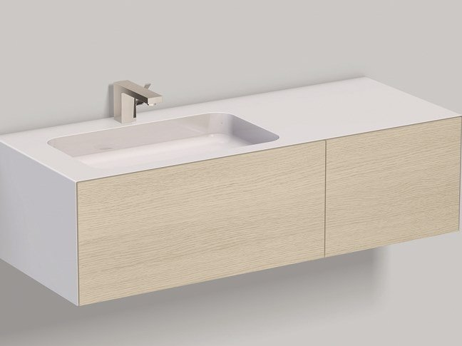 Mobile lavabo sospeso in laminato WP.Folio7 brushed oak by Alape