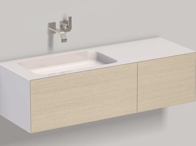 Wall-mounted washstand WP.Folio8 brushed oak by Alape