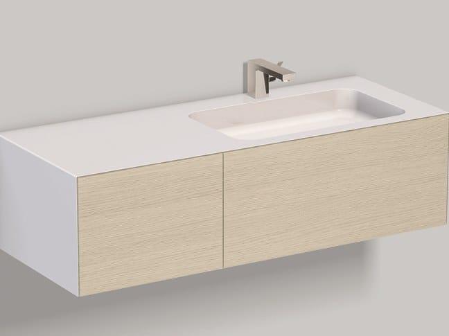 Mobile lavabo sospeso in laminato WP.Folio9 brushed oak by Alape