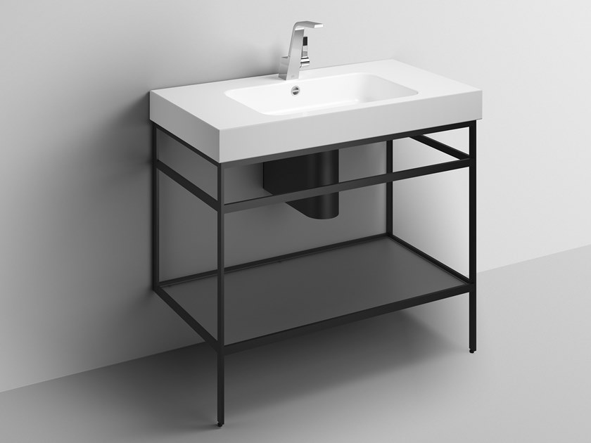 Washstand from glazed steel WP.WF100.1 | Console sink by Alape